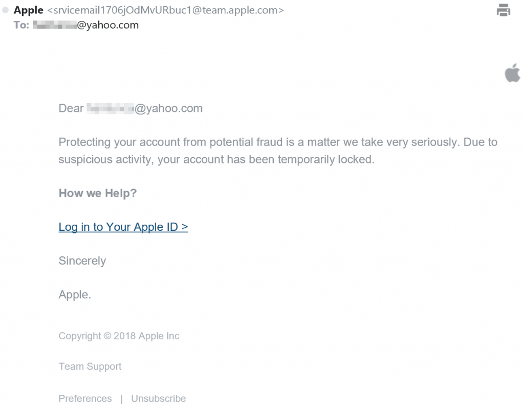 Identify the new round of Apple Phishing Scams and how you
